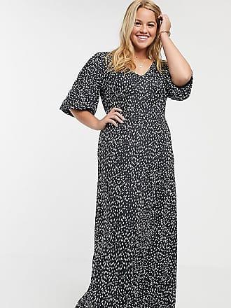 Asos Curve ASOS DESIGN Curve slinky tea maxi dress in spot print-Multi