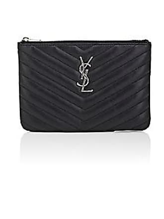 Saint Laurent Womens Monogram Pouch - Black 9c122363e726e