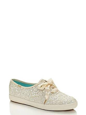 Kate Spade New York Keds X Kate Spade New York Glitter Sneakers, Cream - Size 9