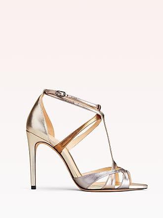 Alexandre Birman Anitta 100 Sandal - 35.5 Blossom Metallic Leather