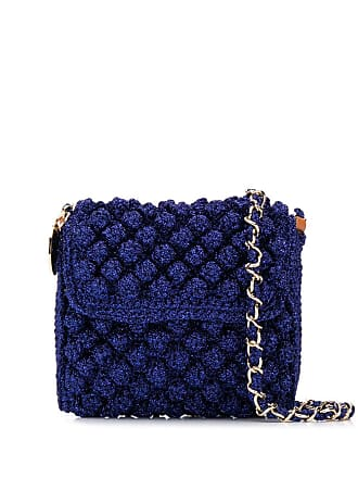 M Missoni Bolsa transversal de tricô lurex - Azul