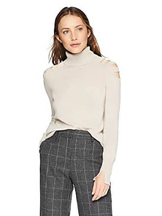42c188097ab Halston Heritage Womens Long Sleeve Turtleneck Sweater with Cut Outs