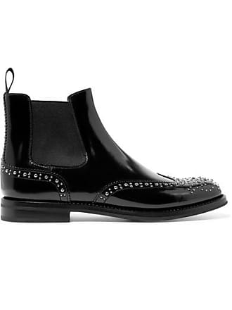 Churchs Ketsby Met Studded Glossed-leather Chelsea Boots - Black