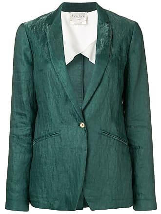Forte_Forte classic slim-fit blazer - Green