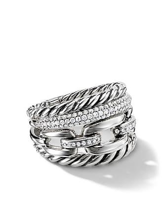 David Yurman Wellesley Four-Row diamonds 16.5mm ring - Ssadi
