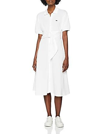 83cc0d3ede Lacoste EF3089 Robe Femme Blanc (Blanc 001) 36 (Taille Fabricant:36)