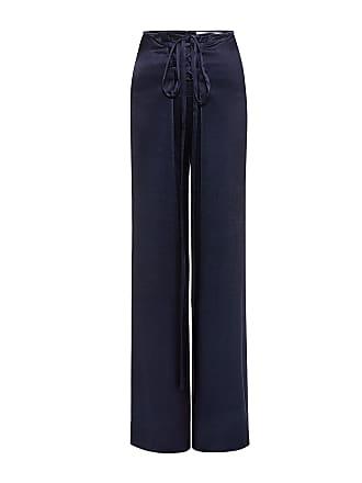 Derek Lam High-rise Lace-Up Satin Sailor Pants Midnight
