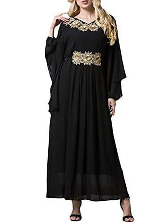 f48320e6dd9e4f Zhhlaixing Malaysia Arabischer Naher Osten Robe Große Größe Fledermaus  Langärmeliges Kleid Türkisch Marokkanische Gewandkleider