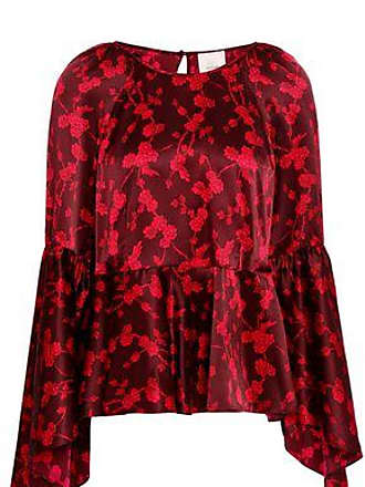 89f4c039f57bc Cinq à Sept Cinq À Sept Woman Avalon Fluted Floral-print Silk-satin Blouse