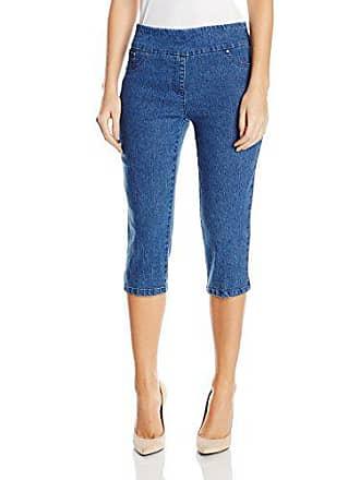 Ruby Rd. Womens Plus-Size Pull-on Extra Stretch Denim Cropped Capri, Indigo, 22W