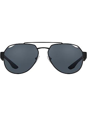 Prada Óculos de sol redondo - Preto