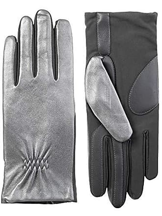 Isotoner Womens Stretch Leather Touchscreen Gloves with Warm Fleece Lining
