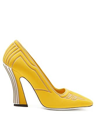 dd8cb6798de Fendi Ffreedom Logo Embossed Neoprene Pumps - Womens - Yellow