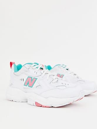 10a83322cb New Balance 608 - Sneaker in Weiß, Rosa und Grün mit dicker Sohle -  Mehrfarbig