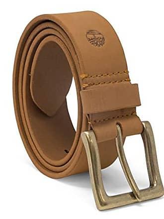 Timberland Mens 38 Mm Boot Leather Wheat Belt, Yellow, 36