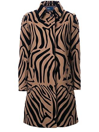 Kolor animal print coat - Brown