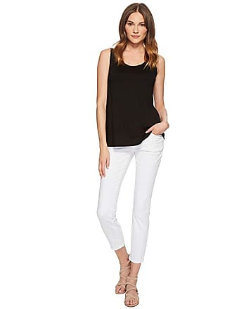 Eileen Fisher Slim Ankle Jeans in White Garment-Dyed Organic Cotton Stretch Denim (White Garment-Dyed Organic Cotton Stretch Denim) Womens Jeans