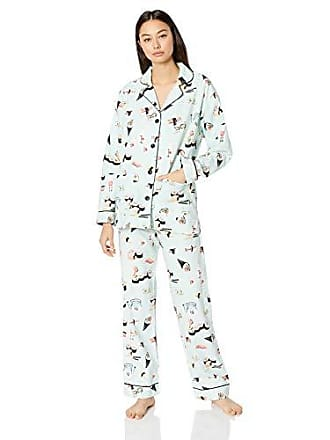 6f5b41b81a49 PJ Salvage Womens Long Sleeve Cozy Printed Flannel Pajama Set Pj
