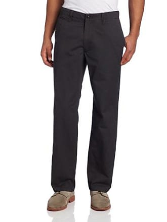 Dockers Mens Dockers Mens Off The Clock Khaki D2 Straight-Fit Flat-Front Pant, Steelhead - discontinued, 33W x 30L