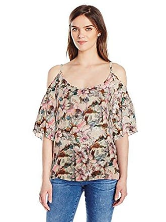 0918dd2f5bd Plenty by Tracy Reese Womens Cold Shoulder Peasant Top, Vintage Watercolor  Floral, M