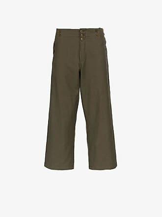 Ann Demeulemeester wide leg button detail trousers