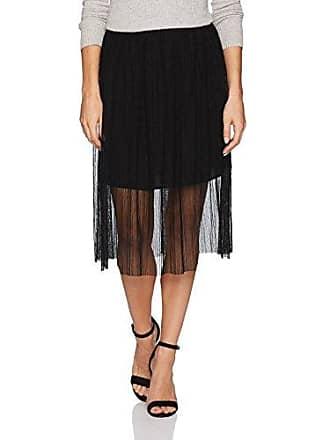 BCBGeneration Womens Midi Tulle Skirt, Black, Small