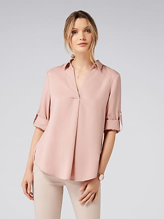 Forever New Kiki Tuck Detail Roll Sleeve Top - Silver Petal - 10