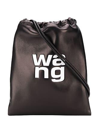 Alexander Wang Bolsa saco com logo - Preto