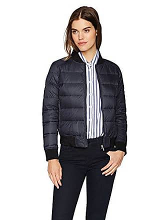 William Rast Womens Quilted Varsity Jacket, Midnight, M