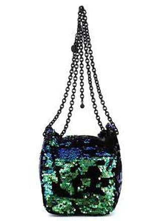Kendall + Kylie Bolsa Bucket con Lentejuelas Reversibles<br>Azul, Verde y Negro<br>20 x 21 x 18 cm