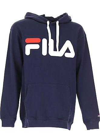 Fila Sweatshirt for Men On Sale in Outlet, Black Iris, Cotton, 2017, L M XL