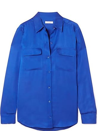 Equipment Signature Satin Shirt - Blue