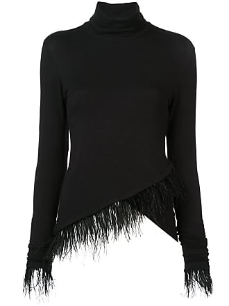 Natori Blusa de tricô assimétrica - Preto