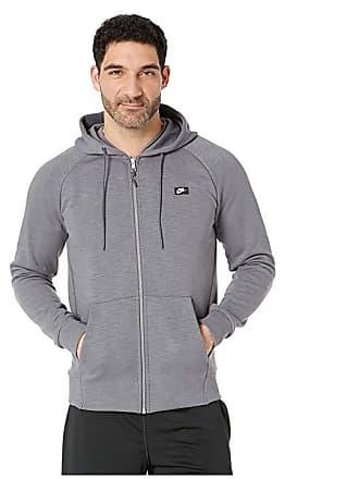 595c07cb89b884 Nike NSW Optic Hoodie Full Zip (Dark Grey Heather) Mens Sweatshirt