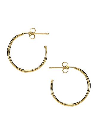 Gorjana Taner Small Hoop Earrings in Metallic Gold