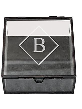 Cathy's Concepts Personalized Square Glass Shadow Box, Letter B