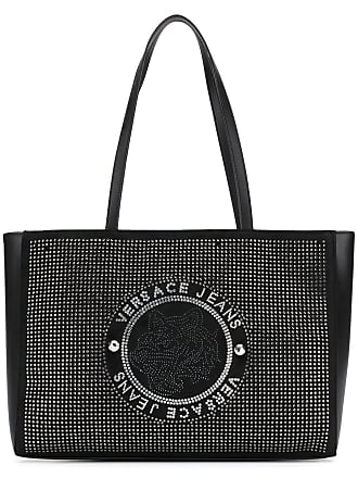 Versace Jeans Couture Bolsa tote com tachas - Preto