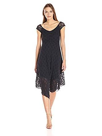 Only Hearts Womens Stretch Lace Off The Shouldre Dress, Navy, S