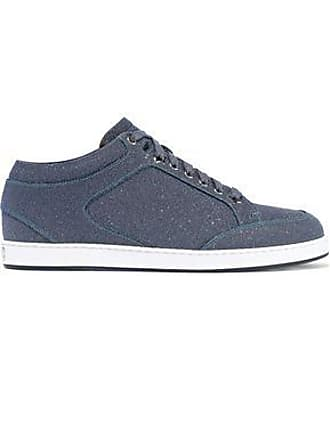 744485b4ca6 Jimmy Choo London Jimmy Choo Woman Miami Glittered Leather Sneakers Navy  Size 38.5