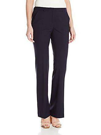 Ellen Tracy Womens Signature Trouser, Navy, 4