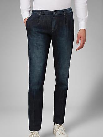 Boggi Milano dark wash double pleat denim jeans
