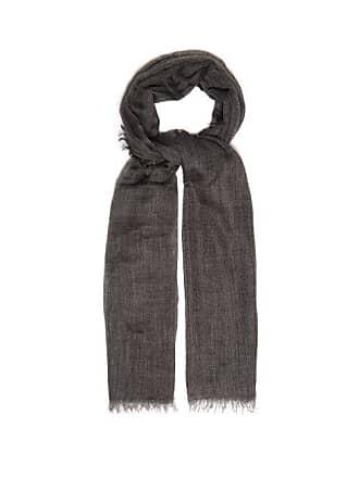 Begg & Co Filigree Cashmere Scarf - Mens - Grey