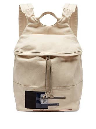 Rick Owens Rick Owens Drkshdw - Photographic Patch Canvas Backpack - Mens - Beige