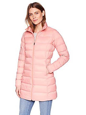 Amazon Essentials Womens Lightweight Water-Resistant Packable Down Coat, Rose Blush, Small