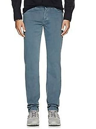 Marco Pescarolo Mens Cotton 5-Pocket Pants - Blue Size 40