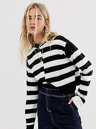 Collusion crop stripe sweater - Multi