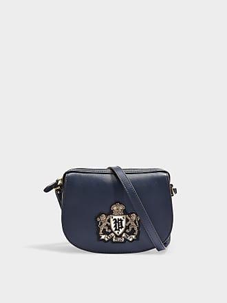 551e7c14bbb Polo Ralph Lauren Bullion Crest Crossbody Bag in Blue Calfskin