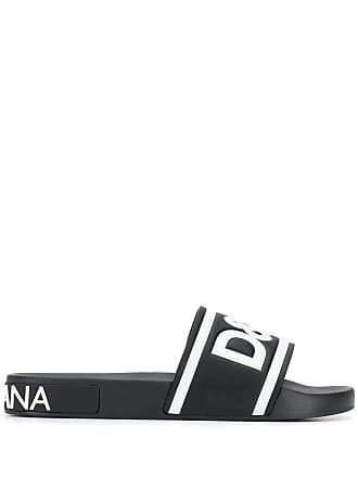 Dolce & Gabbana Slide com logo - Preto