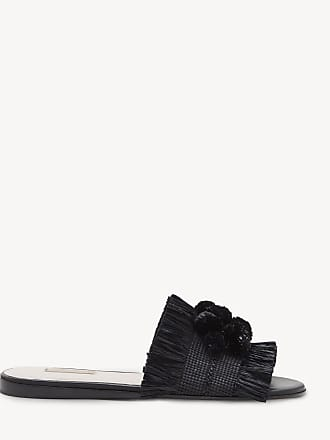 Louise et Cie Womens Arthya Rafia Slides Black/black Combo Size 7.5 From Sole Society