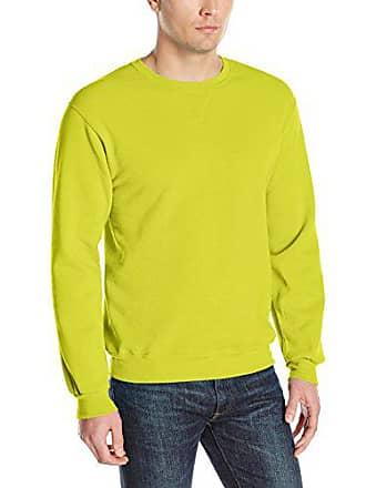 Fruit Of The Loom Mens Fleece Crew Sweatshirt, Citrus Green, Small